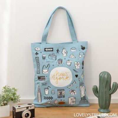 Tote bag Lovely Streets - New York