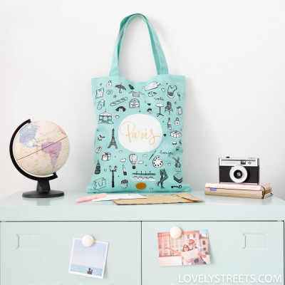 Tote bag Paris- Lovely Streets
