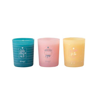Set di tre candele per brillare come non mai