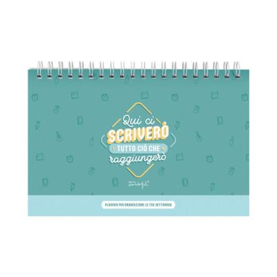 Planner settimanale - Qui ci scriverò tutto ciò che raggiungerò