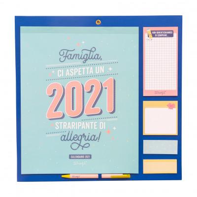 Calendario famiglia - Ci aspetta un 2021 straripante di allegria!