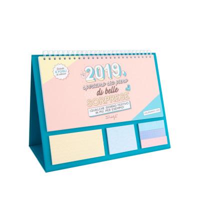 Calendario da tavolo - 2019: speriamo sia pieno di belle sorprese (IT)