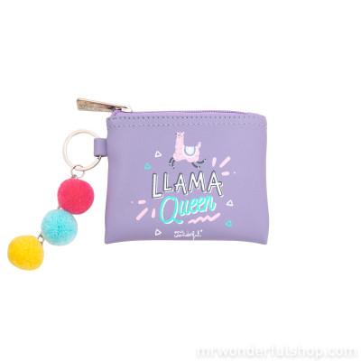Portamonete portachiavi - Llama Queen - Lama Collection