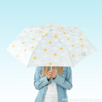 Ombrello piccolo grigio - Nuvole a stampa