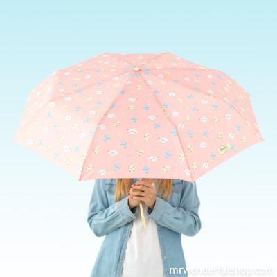 Ombrello medio Corallo - Fulmine stampato