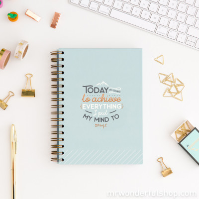 Quaderno - Today I'm going to achieve everything (ENG)