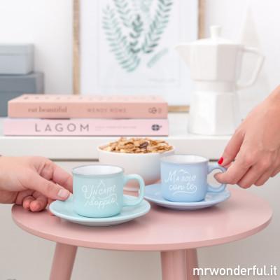 Set di 2 tazzine da caffè - Un caffè doppio, ma solo con te (IT)