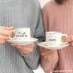 Set di 2 tazzine da caffè - Caffè ristretto e baci lunghissimi