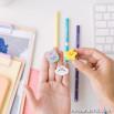 Set di matite con gomme sagomate