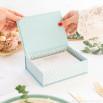 Scatola con 100 carte per dediche di matrimonio uniche