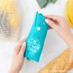 Bolsa de la compra plegable azul - Collect memories, not plastic bags