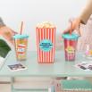 Conjunto de balde de pipocas + copos - A popcorn and movie...