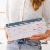 Planner settimanale stretto per pianificare tutto alla grande