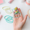 Kit de clips + gomas de pelo Beter - Aguacate