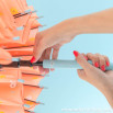 Ombrello grande color corallo - Disegno con gocce