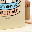 """Quaderno a colori """"Nothing is impossible"""" (ENG)"""