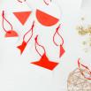 Decorazione albero di Natale - Rosso e bianco