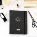 Pack Agenda ad Anelli Nera 2019 con penne magiche
