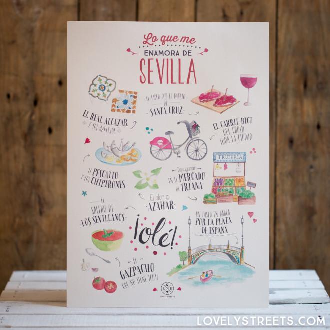 Print Lovely Streets - Lo que me enamora de Sevilla