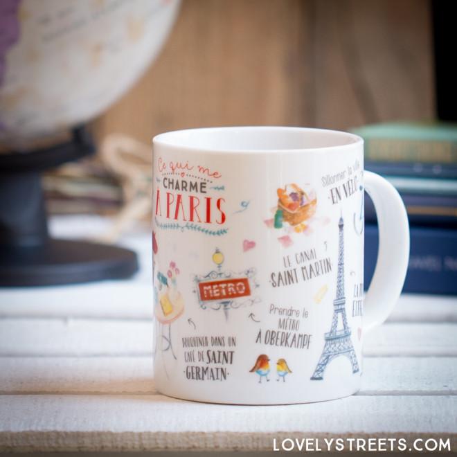 Mug Lovely Streets - Ce qui me charme à Paris (FR)