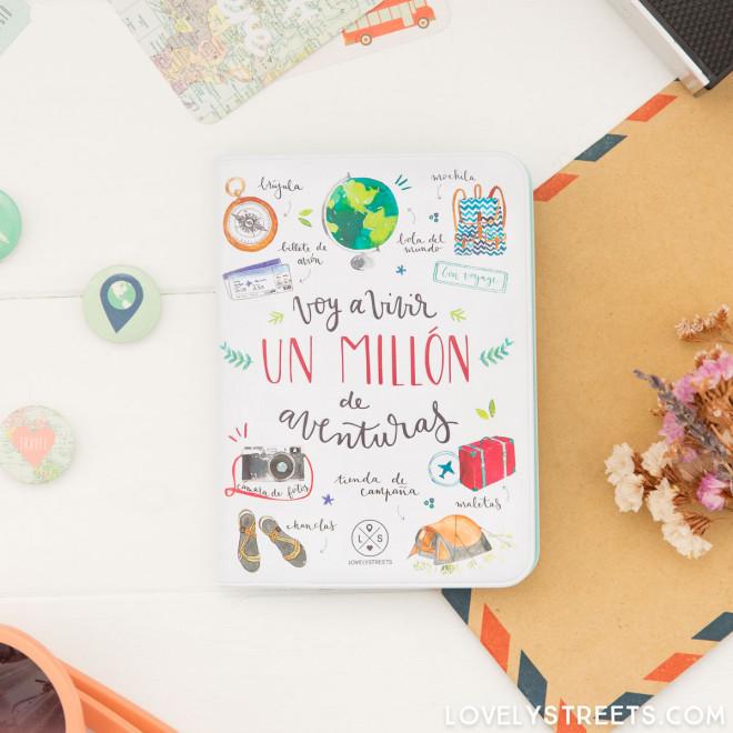 Passport holder - Voy a vivir un millón de aventuras