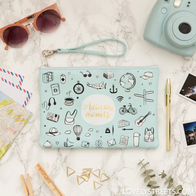 Wristlet Lovely Streets Sketch The World Adventure Awaits