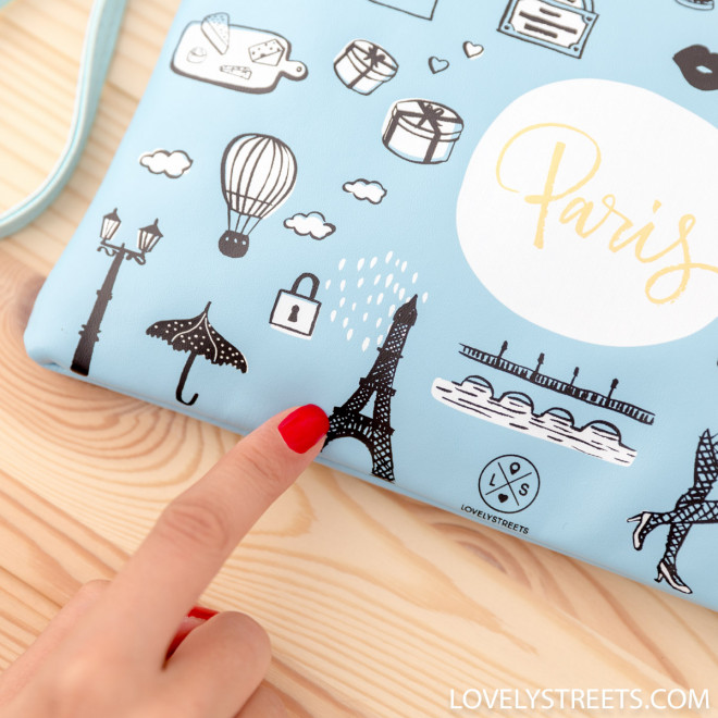 Wristlet Lovely Streets - Sketch the world Paris