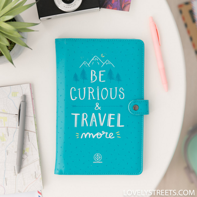 Document holder Lovely Streets - Be curious and travel more (ENG)