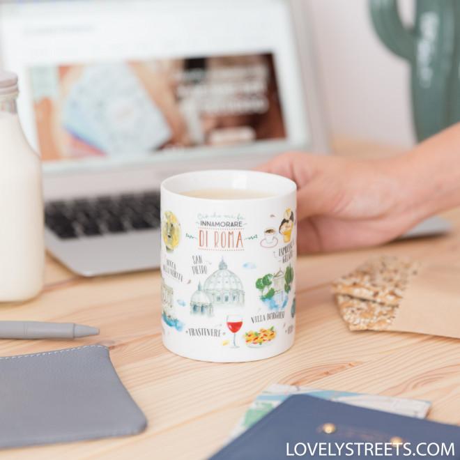 Mug Lovely Streets - Ciò che mi fa innamorare di Roma