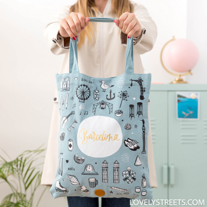 Tote bag Barcelona - Lovely Streets