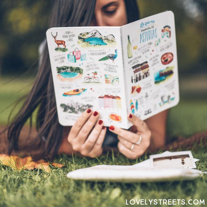 Notebook Lovely Streets - Lo que me enamora de Asturias
