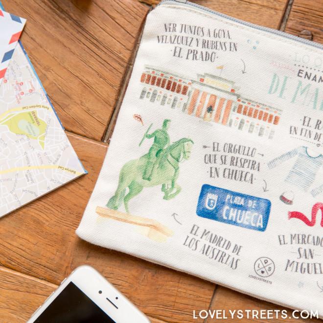 Lovely Streets wristlet - Lo que me enamora de Madrid
