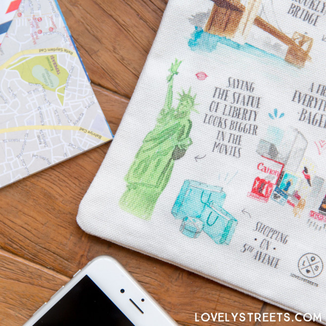 Lovely Streets wristlet - Things that make me love New York (ENG)