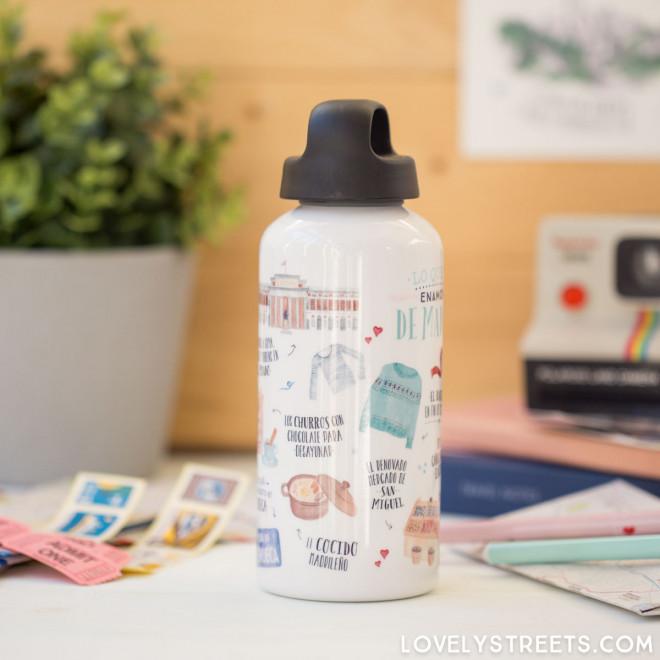 Aluminum bottle Lovely Streets - Madrid