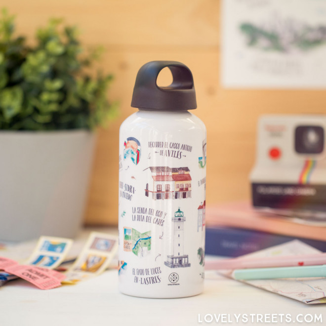 Aluminum bottle Lovely Streets - Asturias