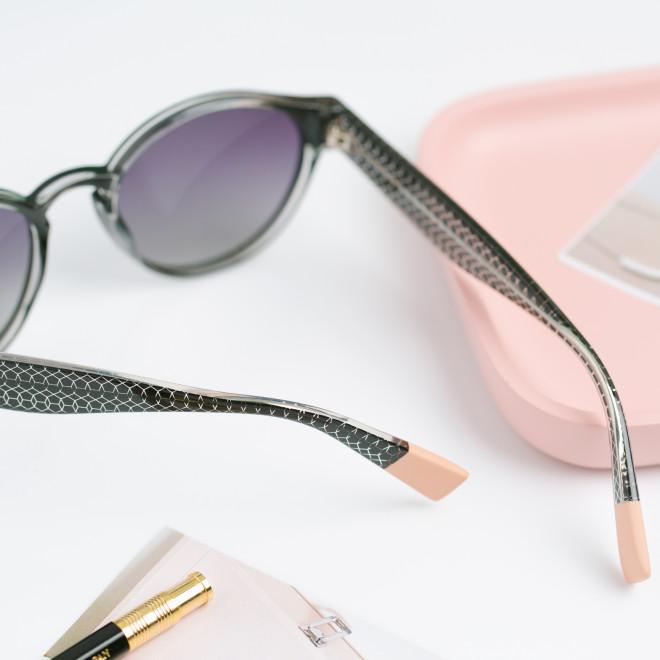 Gafas de sol Trendy inyección redondas - Negro
