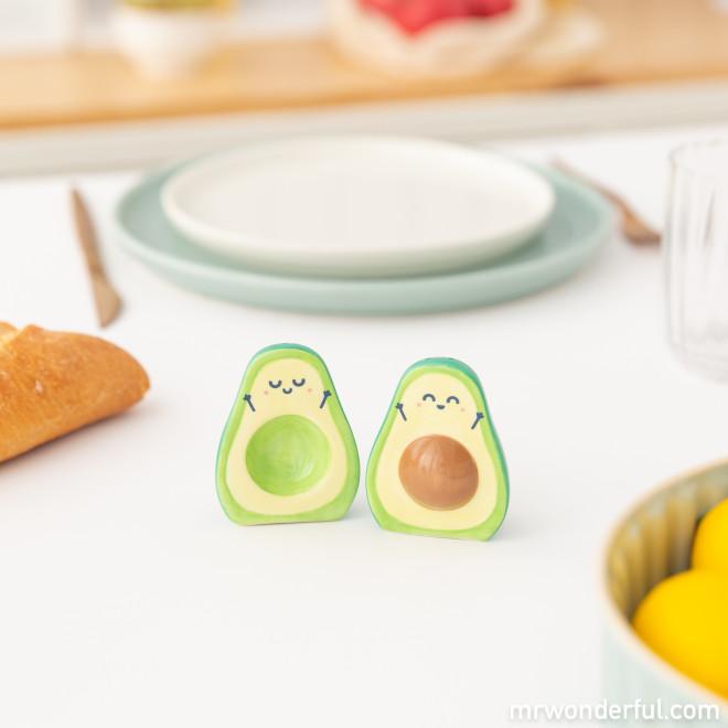 Salt and pepper shakers - Avocado