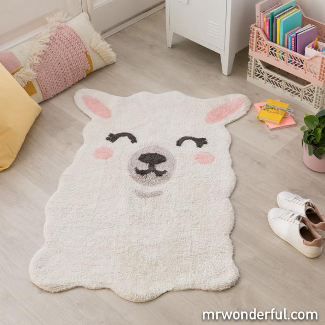 Alfombra lavable Lorena Canals - Smile like a llama