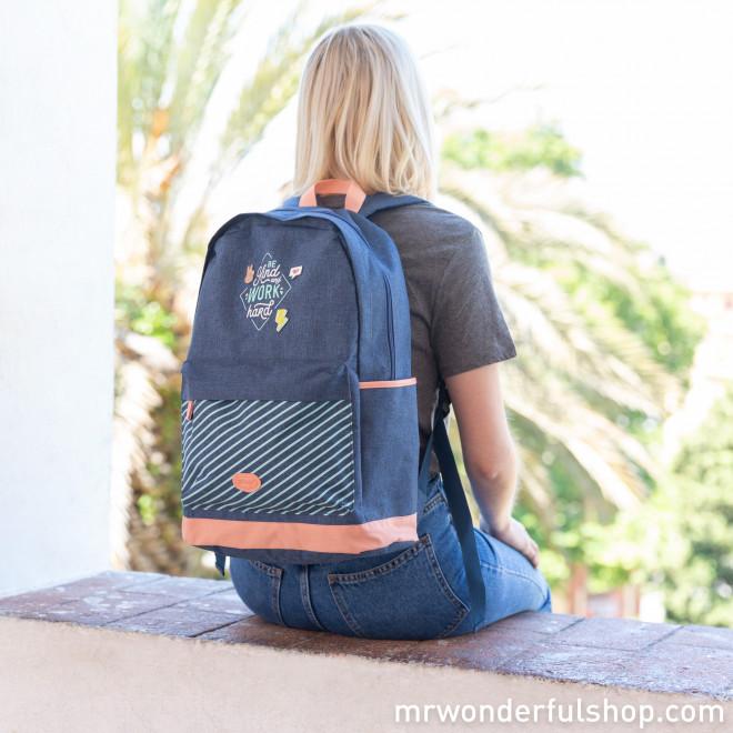 Backpack - Be kind and work hard