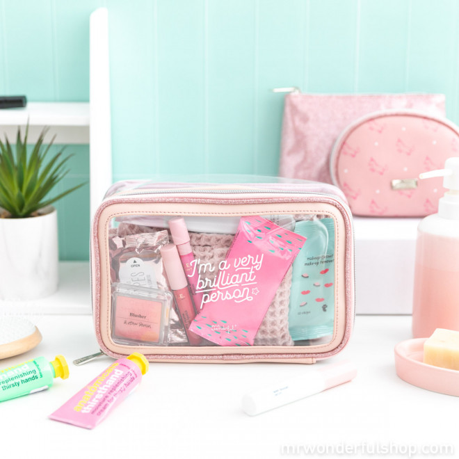 Set of 3 toiletries bags - I'm a very brilliant