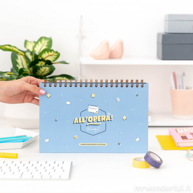 Planner per organizzare le tue settimane - All'opera!
