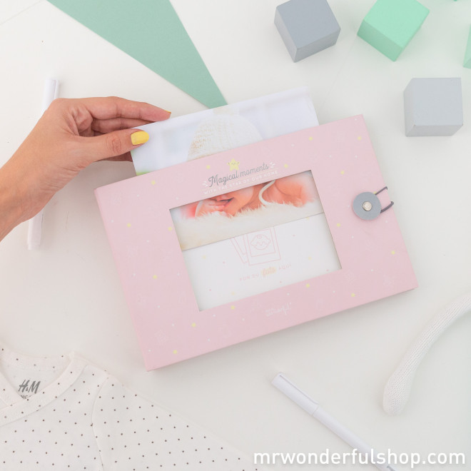 Pink baby photo album - Magical moments with the star of our home