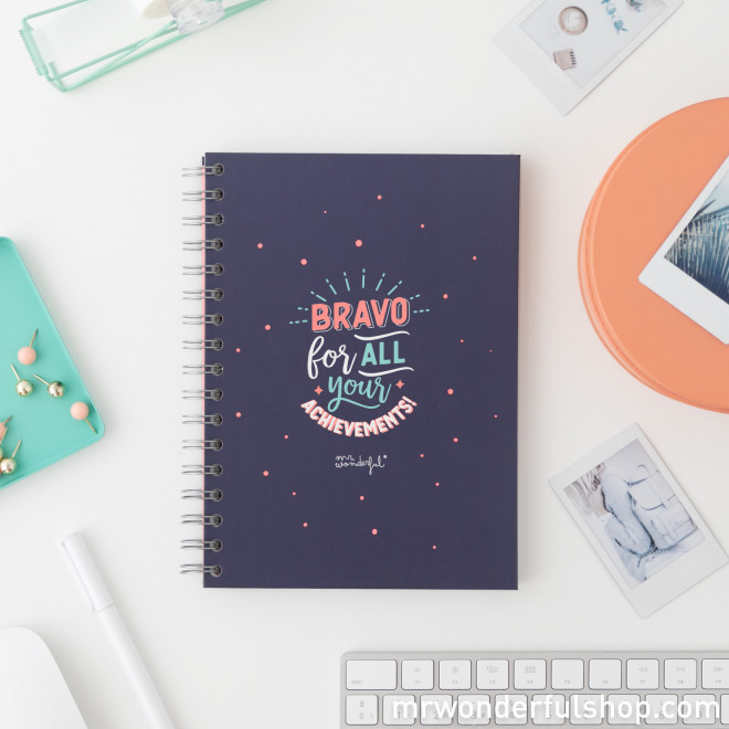 Notebook - Bravo for all your achievements!