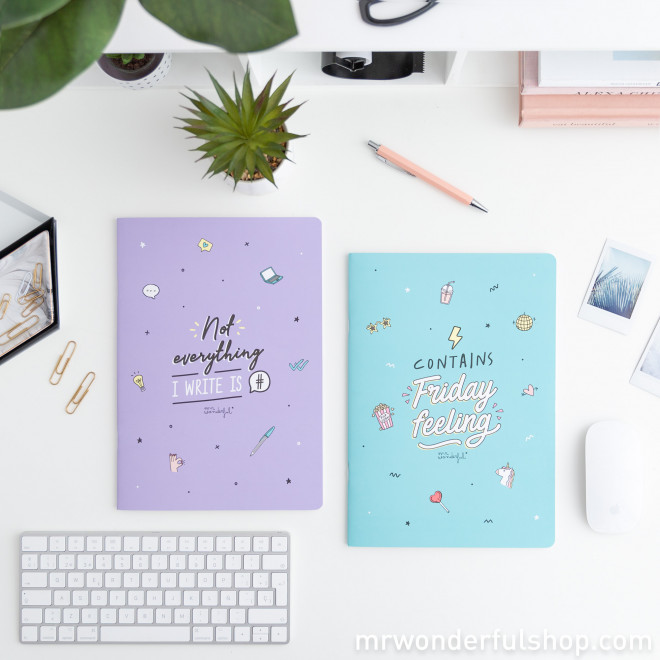 Set of two A4 notebooks - Contains Friday feeling