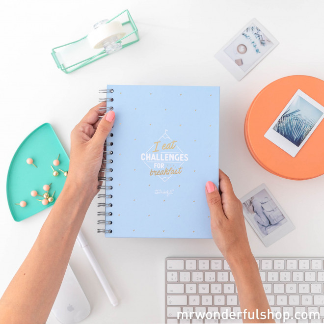 Notebook - I eat challenges for breakfast