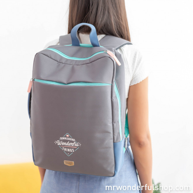 Laptop backpack - Downloading Wonderful things