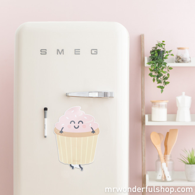 Magnetic whiteboard - Cupcake