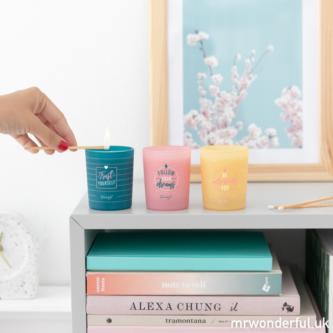 Set of 3 candles for you to shine as only you know