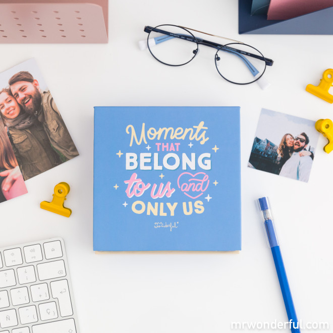Box with photo album - Moments that belong to us