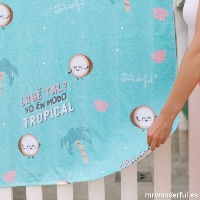 Beach towel - Yo en modo tropical